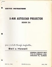 BELL & HOWELL SERVICE MANUAL: 256 PROJECTOR -1963