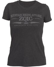 Zoic Womens Heritage Tee Shirt  Grey Heather Small Cycling