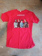 Weezer Band Photo 2008 Troublemaker Tour Size Large Red T Shirt