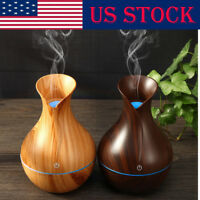 USB LED Purifier Ultrasonic Aroma Oil Diffuser Air Humidifier Aromatherapy US EN