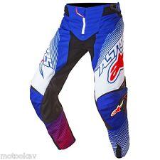 pantalone cross ALPINESTARS techstar factory pants-BLUE WHT RED taglia 30/46*