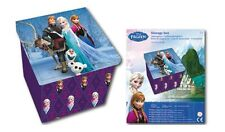 OFFICIAL NEW FROZEN OLAF SVEN ELSA STORAGE BOX TOY BOX CHILDRENS BEDROOM OTTOMAN