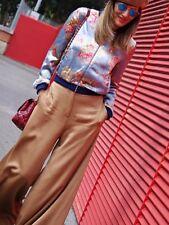 Zara Sky Blue Floral Printed Bomber Jacket Blazer Size L, Uk12