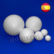 4 bolas de 50 mm de diámetro de porexpan, polystyrene, poliestireno,fofuchas