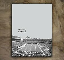 Oakland Raiders Sports Poster NFL Art Print Rare Hot New 12x16""