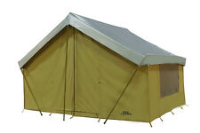 BASE CAMP NEW 12' x 9' CANVAS STRAIGHT WALL TENT w/Custom FLY Cover