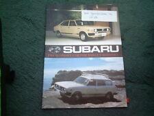 1979 SUBARU 2WD / 4WD MV + COUPE + STATION WAGON + SEDAN - ENGLISH 8/78 BROCHURE