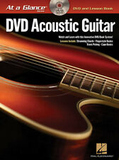 At A Glance DVD/Book Acoustic Guitar Fingerpicking TAB Chords Capo Hal Leonard