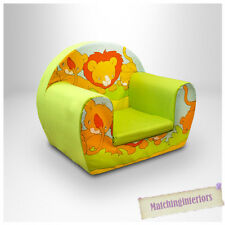 Lion Lime Animal Childrens Kids Comfy Foam Chair Toddlers Armchair Seat Chair