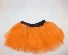 80s Fancy Dress Neon Orange Tutu - Adults XXL 16-26