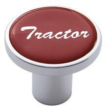 knob tractor screw on red glossy sticker for Kenworth Peterbilt Freightliner