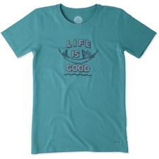 Life is Good Women's Crusher Beach Hammock on Beachy Teal - Size Large