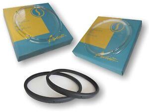 Studebaker Avanti 1963 Round Headlight GLASS Lenses with Gasket Seals - L&R set