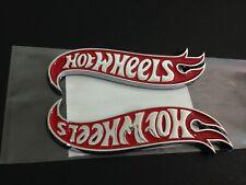 NEW Hot Wheels LH & RH Fender Emblems Badge Red & Chrome For Mustang Camaro