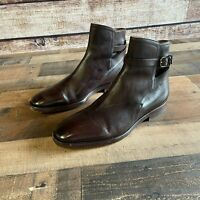Frye Jodphur Boots Size 9.5 M Dark Brown Made in Italy Leather