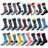 Mens Socks Combed Cotton Animal Pattern Long Tube Funny Crew Casual Crazy Socks