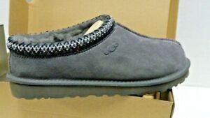 UGG Men's TASMAN  Comfort Sheepskin & Suede Clog Slippers DARK GREY 5950 SZ 9