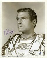 Laurence Olivier Spartacus Vintage Signed Autographed 8x10 Photo Beckett BAS COA