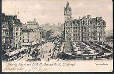VALENTINES POSTCARD 1904 PRINCES STREET & NBR STATION HOTEL EDINBURGH