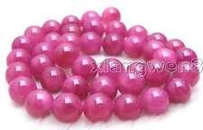 "SALE Big High quality 10mm Rose Red jade gemstone beads strands 15""-los419"