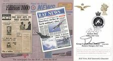 JS(CC)72c 1000 Edition of RAF News.double signed  Both Worked on RAF News