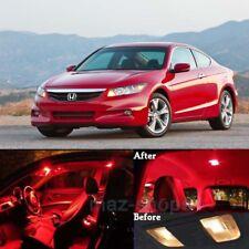 14Pcs Red LED Lights Interior Package Kit For 2003-2012 Honda Accord Sedan MD