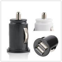 Car Charger Adaptor Mini Bullet Dual USB 2-Port For iPhone 4 5 C S 6 Plus