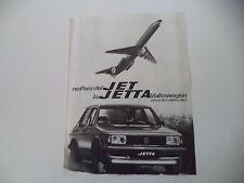 advertising Pubblicità 1980 VOLKSWAGEN JETTA