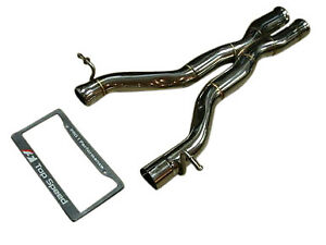Fit Mercedes Benz W204 C63 AMG V8 08-14 Top Speed Pro-1 Race/Track Mid X Pipe