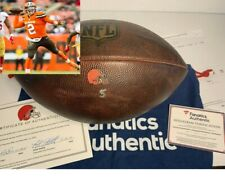 Johnny Manziel Cleveland Browns Game Used Photo Matched Football - Two COAs 2015