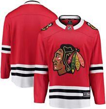 New Men's Chicago Blackhawks Blank Fanatics Breakaway Home Red Jersey S
