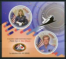 Mali 2017 MNH 1st Married Couple in Space Mark Lee & Jan Davis 2v M/S Stamps
