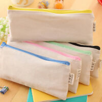 Canvas Student Pencil Case Pen Bag Coin Purse Bags Cosmetic Makeup Bag S