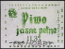 Poland Brewery Lublin Jasne Pełne Beer Label Bieretikett Etiqueta Cerveza lu31.1