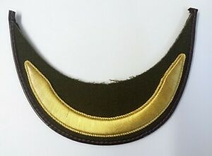 Genuine British Made Olive Senior Officers 1 Braided Gold Bar Hat Peak PK21