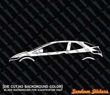 2X Car silhouette stickers - for Honda Civic FN2 type-R | 2006-2011 (8th gen)