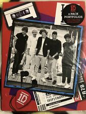 1D One Direction 2 Pack Portfolio Folders with collectible glossy poster 2013
