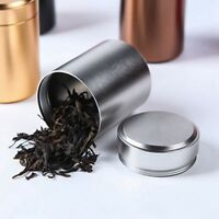 Airtight Smell Proof Container Aluminum Herb Stash Jar 4.5*4.5*6CM Storage Box