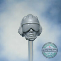 "MH482 Custom Cast head use w/3.75"" Marvel Uni GI Joe Star Wars Fortnite figures"
