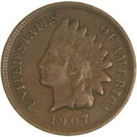 1907 Indian Head Cent Fine Penny FN