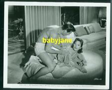 GEORGE NADER HEDY LAMARR VINTAGE 8x10 PHOTO IN BATHING SUITS 1957 FEMALE ANIMAL