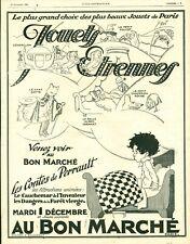 Publicité ancienne jouets étrennes au bon marché 1925 issue magazine