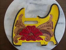 Tooled leather Pickguard for Fender Telecaster
