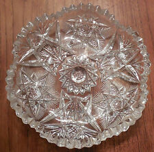 Old American Brilliant Deep Cut Candy Dishes