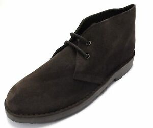 Dark Brown Retro 70s MOD Style Real Suede Desert Boots