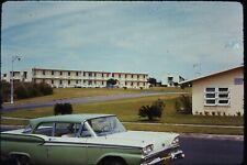 Org Photo Slide 1960's Vietnam war military Base Street scene residence Barracks