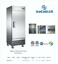 29 Reach In Solid Door Upright Commercial Refrigerator Stainless Steel Cooler