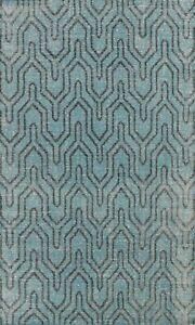 Contemporary Trellis Oushak Oriental Area Rug Vintage Style Handmade Wool 6x9
