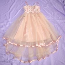 Rhinestone Tüllblüten Children Dress 134 Flower Girl Communion Gala Dress