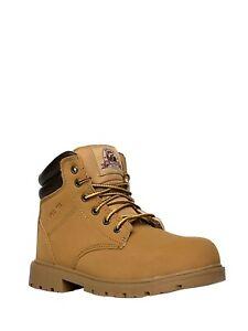 """Brahma Women's Caraway 6"""" Steel Toe Work Boot Size 6.5 Wheat"""